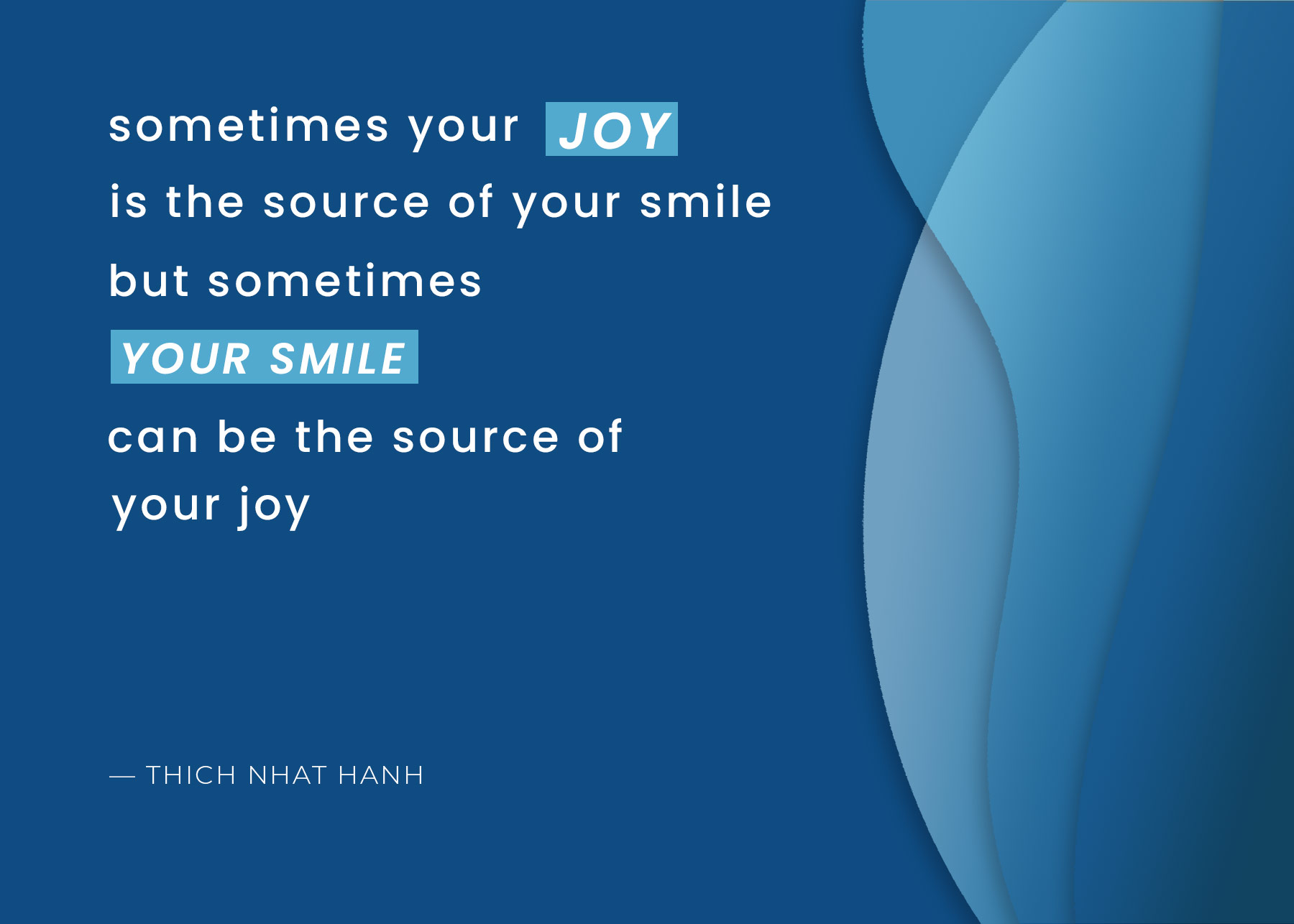Social media post with quote sometimes your joy is the source of your smile but sometimes your smile can be the source of your joy