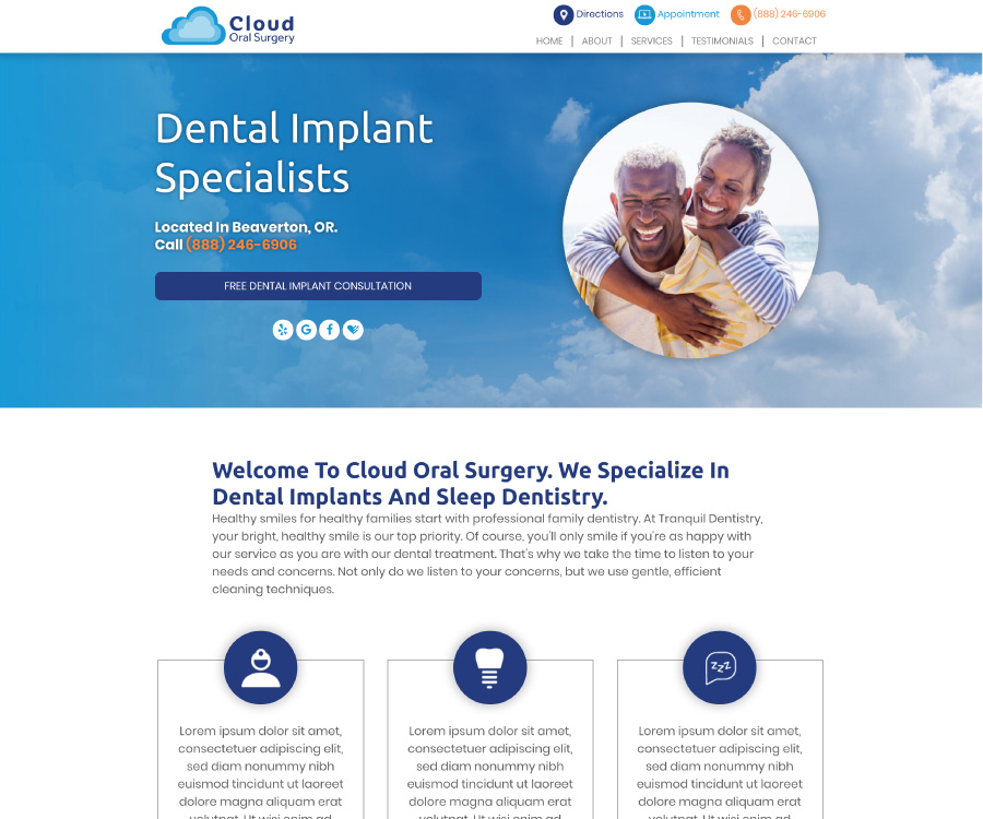 This is an example of our design called Cloud Oral Surgery
