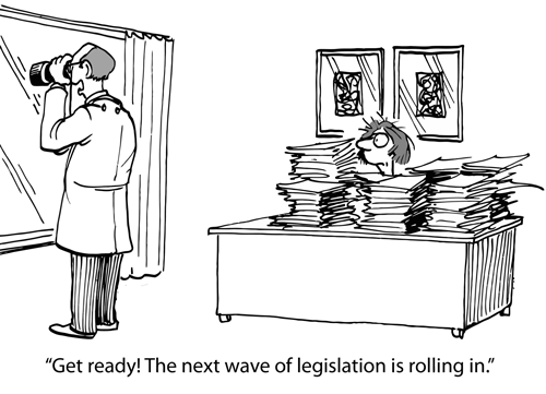 Affordable Care Act New Dental Rules - Comic Strip depicts new legislative rules coming