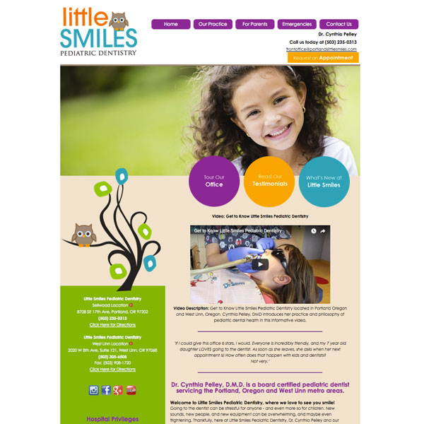 Little Smiles Pediatric Dentistry - Pediatric Dental Website Design by WEO Media