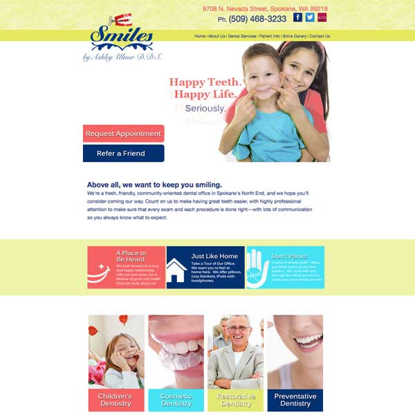 Smiles by Ashley Picture of Website Home Page