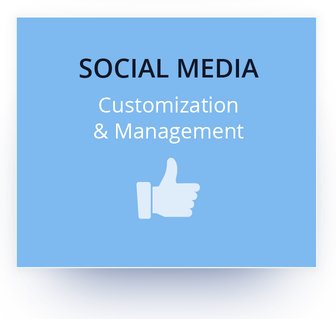Learn more about social media customization and management.