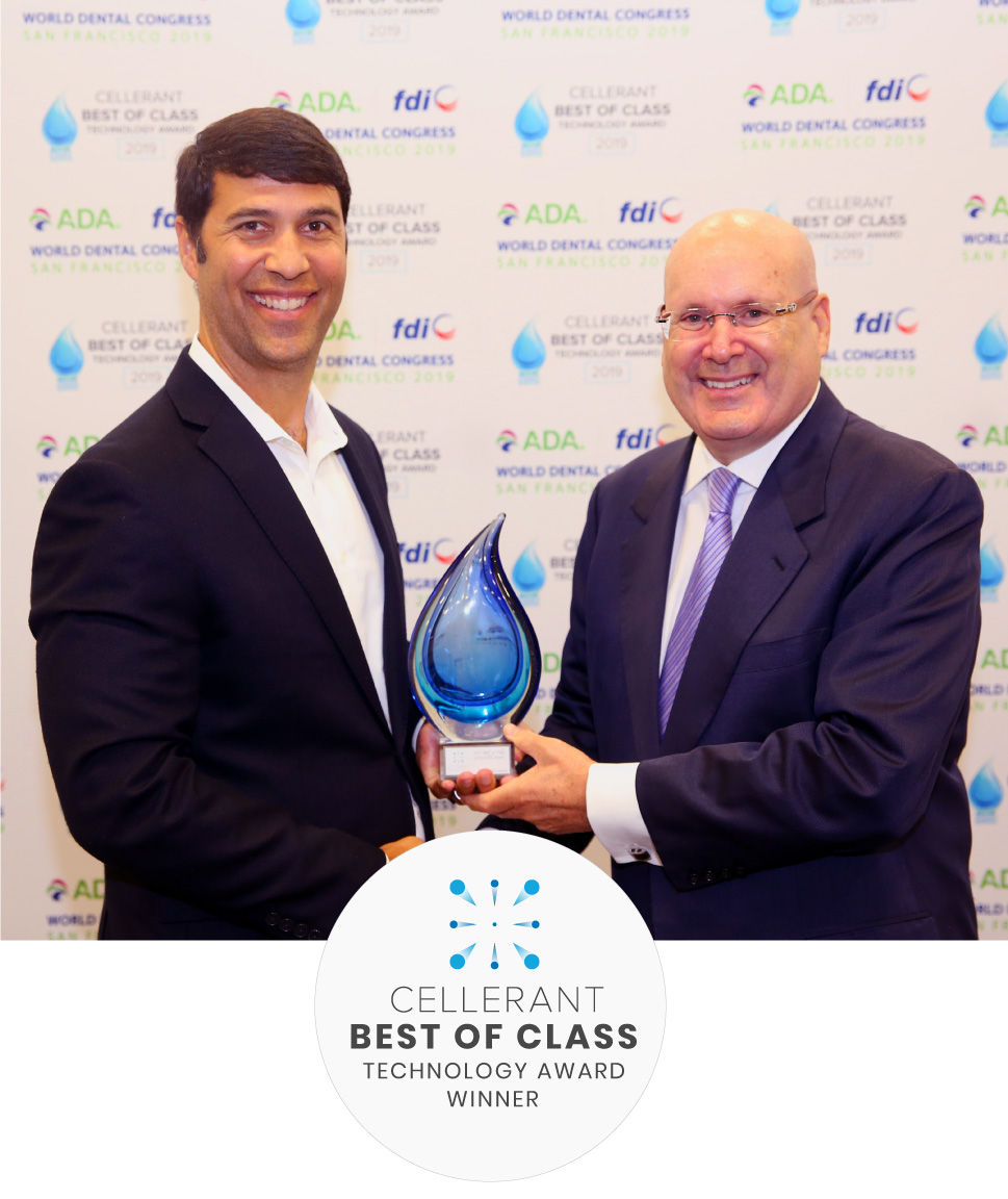 Ian McNickle accepting the Best of Class award in technology 2019 Lou Shuman, DDS