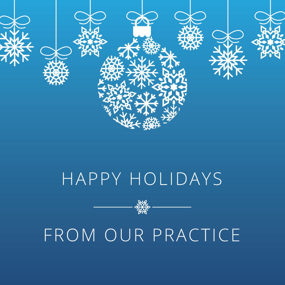 Social media post with quote Happy Holidays, From Our Practice