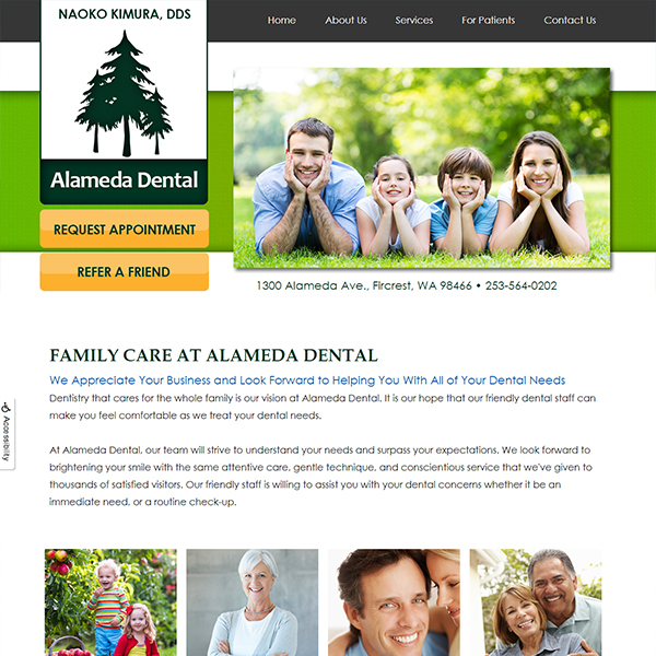 Alameda Family Dentistry - Pediatric Dental Website Design by WEO Media