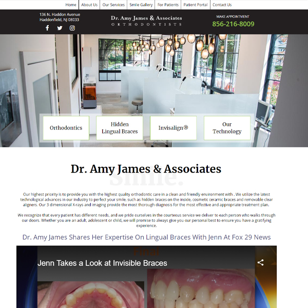 Amy James Ortho - Orthodontic Website Design by WEO Media
