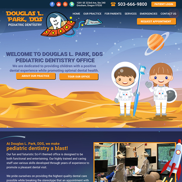 Park DDS - Pediatric Dental Website Design by WEO Media