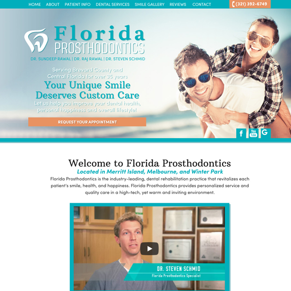 Florida Prosthodontics Picture of Website Home Page