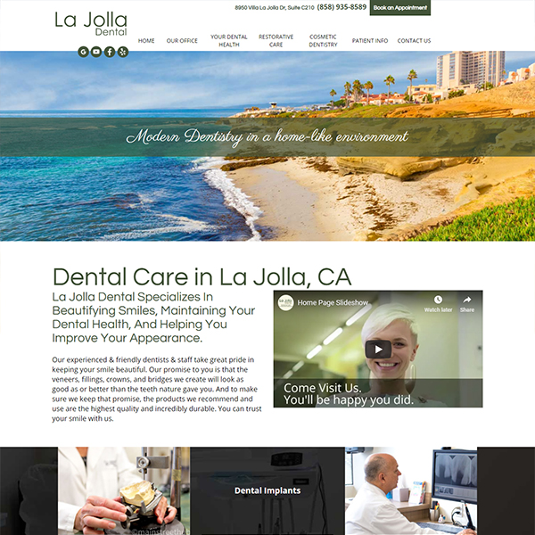 La Jolla Dental- General Dentist Website Design by WEO Media
