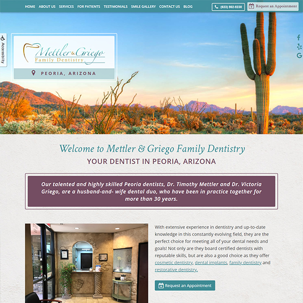 WMettler & Griego - General Dentist Website Design by WEO Media