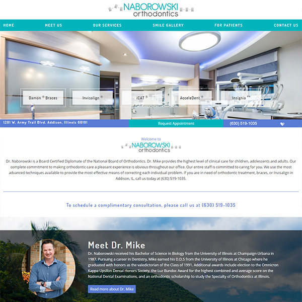 Naborowski Ortho - Orthodontic Website Design by WEO Media