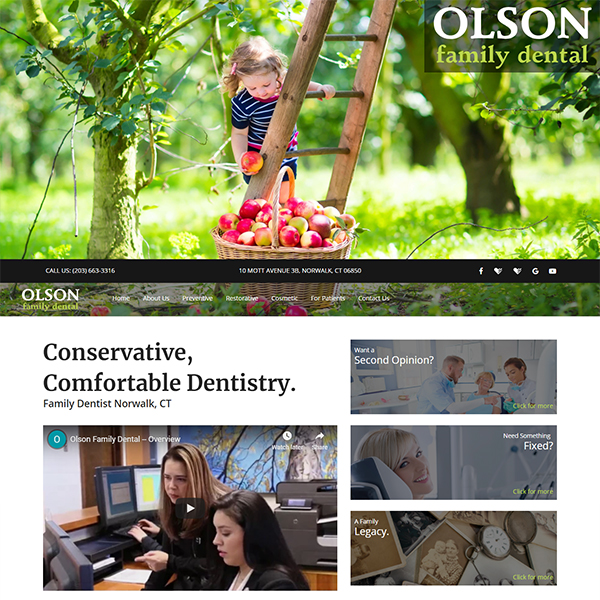Olson Family Dental - General Dentist Website Design by WEO Media