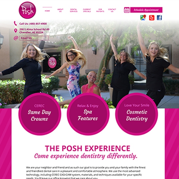 Posh Dental - General Dentist Website Design by WEO Media