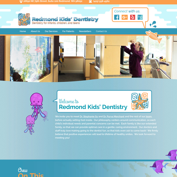 Redmond Kids Dentistry - Pediatric Dental Website Design by WEO Media