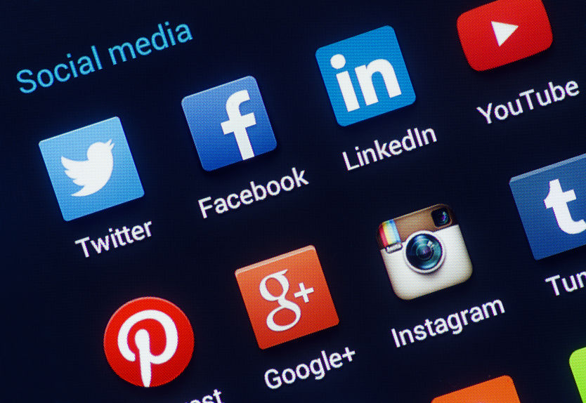 icons of Social media apps for dentists