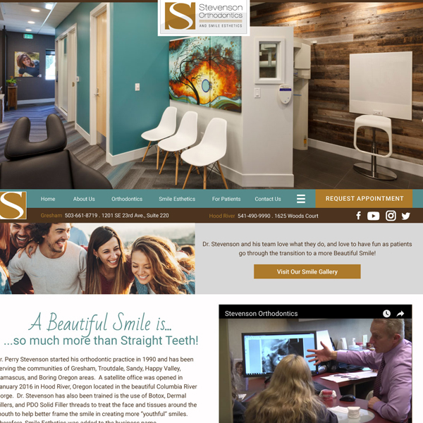 Stevenson Ortho - Orthodontic Website Design by WEO Media